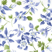 Columbine White Wildflowers #67-12  Moda Quilt Fabric by the 1/2 yard