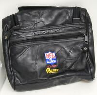 St Louis Rams NFL Alumni Black Leather Toiletry travel Bag  Hanging Case