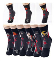 Anime Naruto Akasuki Clouds Licensed Crew Socks Cosplay Socks Props Fans Gift
