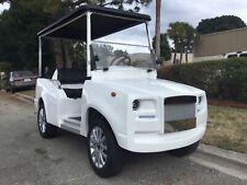 Luxury 2021 White e caliber golf cart 4 passenger fast AC motor 450A controller