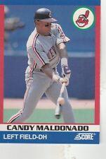 FREE SHIPPING-MINT-1991 Score 100 Superstars #76 Candy Maldonado CLEVELAND INDIA