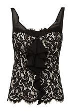 RRP £99 BNWT Karen Millen Black Lace top