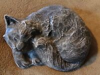 Cat mold plaster concrete garden mould
