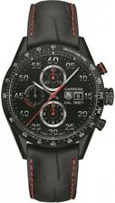 CV2A81.FC6237 Tag Heuer Carrera CAL 16 Mens Watch Black Chrono titanium carbide