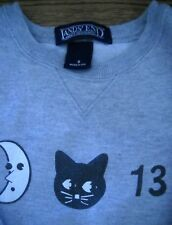 Land's End Sweatshirt - Halloween, Friday the 13th GRAY- Size SMALL (5/6) - EUC!