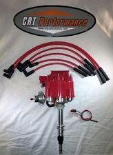 Jeep AMC GM HEI Distributor RED & Plug wires CJ5 CJ7 YJ 258-232 - DROP IN READY