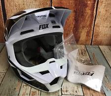 """Fox V1 Prizm Youth Helmet Black/White  (YM)  """"Read"""""""