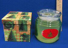 Christmas Scented Gel Candle Covered Jar By Kinzie & Box w/  Note Paper Lot 2