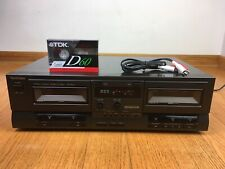 Technics RS-TR210 Stereo Auto-Reverse Dual Cassette Tape Deck 1991 Japan TESTED
