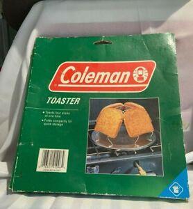 Vintage Coleman Camp Stove 4 Slice Toaster Aluminum 807a723t Bin 912