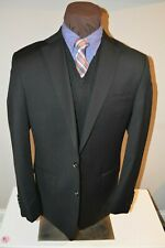 NWOT Michael Kors mens 2 silver button solid black sport coat jacket blazer 42L
