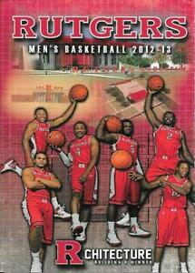2012-13 Rutgers Scarlet Knights Men's College Basketball Pocket Schedule