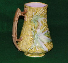 Antique Bamboo & Basket weave Majolica Pitcher