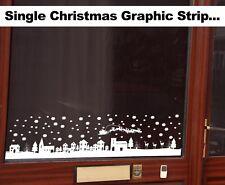 Christmas Window Santa and Magical Winter Village Snow Scene Decoration Sticker