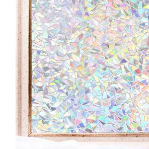 CottonColors Window Film 3D Static Decoration Privacy Glass Stickers UV Block 81