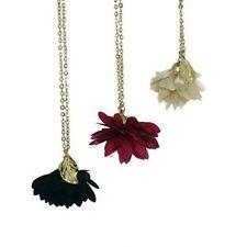 Flowers Plants Fabric Costume Necklaces & Pendants