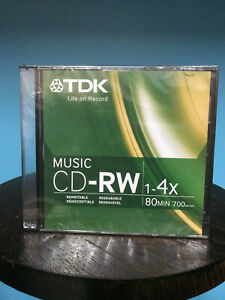 TDK CDRW80TWN 80 Minute Music/ Consumer Use CD-RW *(5 Pack)