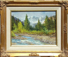 """M. Kritza """"Chair Mountain, Redstone CO"""" Original Oil Painting with ornate frame"""