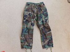 US  ARMY WOODLAND BDU PANTS SIZE SMALL-X SHORT