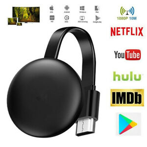 For Chromecast 4th Generation 1080HD HDMI Dual-co5G Media Video Digital Streamer