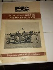 Post Hole Digger Instruction Book