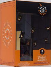 Halloween 8 Black Cat Can String Light Indoor/Outdoor Black Wire NIB