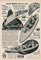 1961 Folbot Boats Ad Charleston SC Yacht Canoe Runabout Kayak Boating Sailing