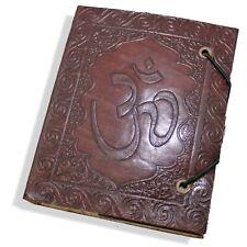 Lederbuch Kladde Notizbuch Tagebuch Motiv OM Echt Leder aum 1