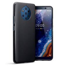 Nokia 9 Pureview TPU Gel Silicone Rubber Thin Slim Cover Case in Matte Black