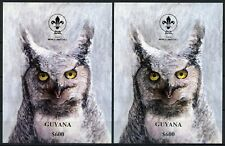 Guyana 1993 Vögel Eule Weltpfadfindertreffen Pfadfinder Block 263-264 MNH / 486