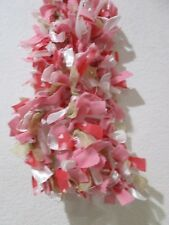 Valentines Day Pink Fabric Rag Garland Decor  Decoration 6FT