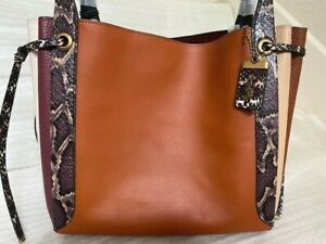 NWT Coach Harmony Hobo In Colorblock Snakeskin  $795 Sunset Multi