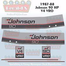 1987-88 Johnson 90 HP V4 Sea-Horse Outboard Reproduction 6 Pc Marine Vinyl Decal