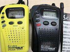 2 X Cobra MicroTALK PMR 300 Walkie Talki 2 WAY RADIO Car Charger Fa-Ch 38 MANUAL
