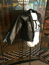 Biker Jacket Child Size Small and 2 T-Bird T's Costume Dress Up or Halloween