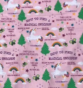 Unicorn Toddler Comforter 40 X 55 Toddler Childrens Baby Crib Pink Minky Stars