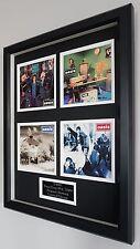 Oasis Framed Original Time Flies Postcard Set-Plaque-Certificate-Live Forever
