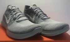 Nike Free RN Flyknit 2017 Mens Size 13 Wolf Grey White Running Shoes Sneakers