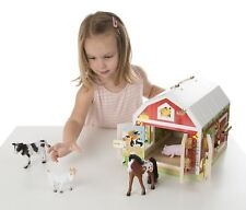 NEW Melissa & Doug Latches Barn with Animals Wooden Wood Play Educational Toy