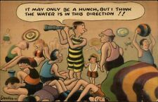 Dooley - Beach Comic Looking For the Water Postcard