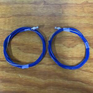 VINTAGE BMX OLD SCHOOL BLUE GT PERFORMER FRONT REAR BRAKE CABLE NOS