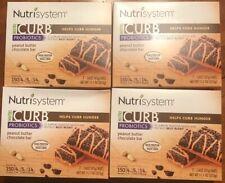 Nutrisystem Nutri CURB PEANUT BUTTER CHOCOLATE BARS 7 Per Box, 4 Boxes