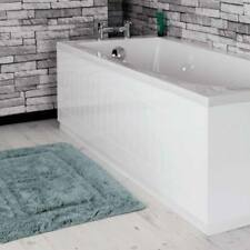 Modern Tongue & Groove White MDF Front Bath Side Panel 1700mm Adjustable Plinth