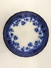 """Societe Ceramique Maestricht Holland Splendid Antique 9"""" Blue Plate Floral"""