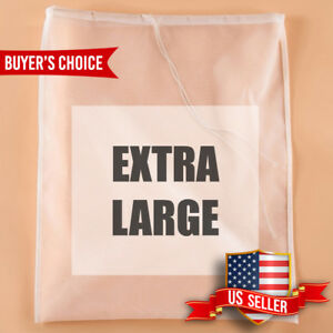 Nut Milk Bag NYLON Fine Mesh Strainer Reusable Food Tea Juice Pulp Filter