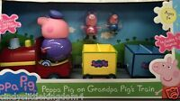 New in box Peppa Pig grandpa train with figures speech sound playset toy