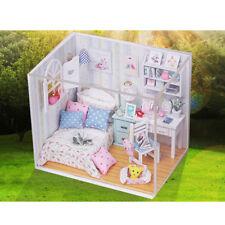 1:24 Dollhouse Miniature Doll House Kits Bedroom Life Scene Christmas Gift