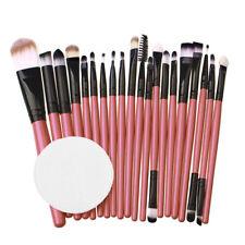 20PCS Make Up Foundation Eyebrow Eyeliner Blush Cosmetic Concealer Brushes+Puff