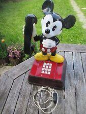 """Vintage de mickey mouse teléfono (raramente) Holland, teclas blancas """"top!"""