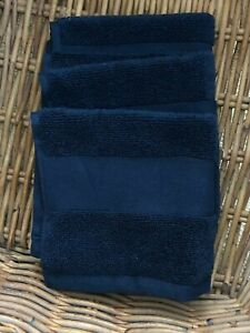 Set (3) Lauren Ralph Lauren Wescott Cotton Face Towel Wash cloth 13x13 CLUB NAVY